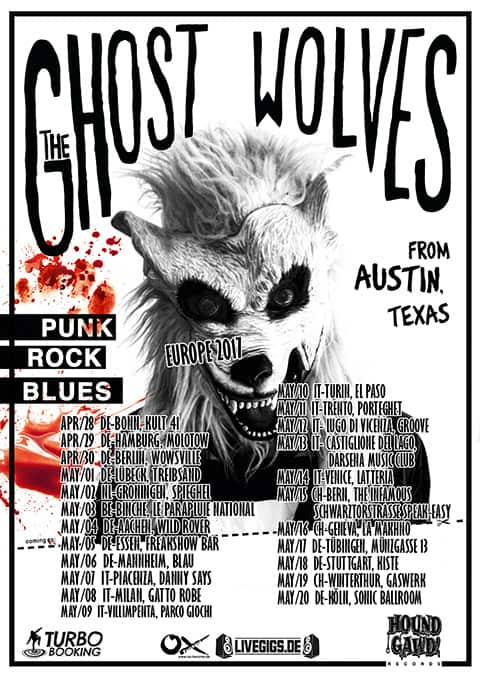 Ghost Wolves tour flyer 2017