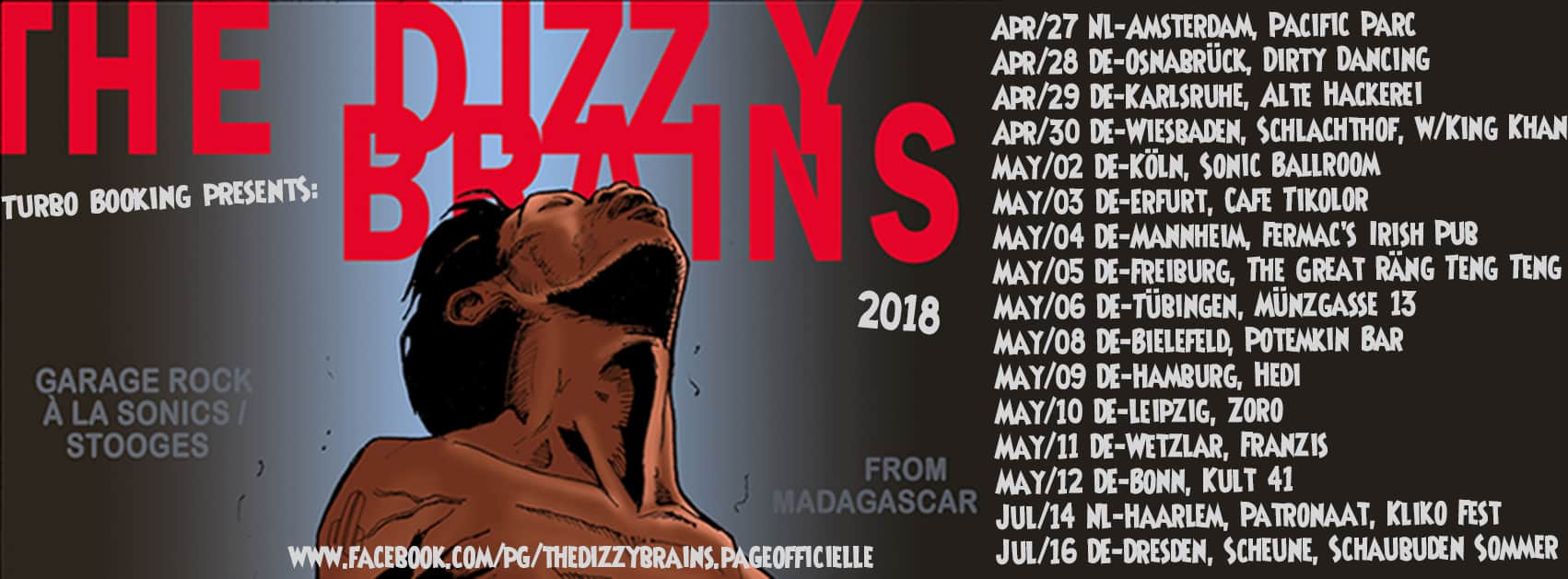 Dizzy Brains Tour 2018