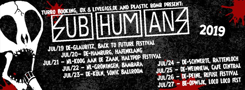 Subhumans Tour 2019