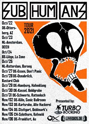 Subhumans Tour 2021