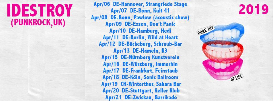 IDestroy Europe Tour 2019