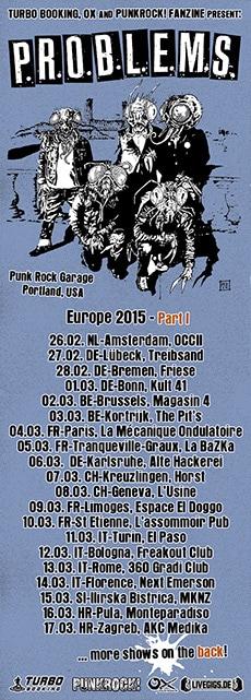 P.R.O.B.L.E.M.S. Tour 2015