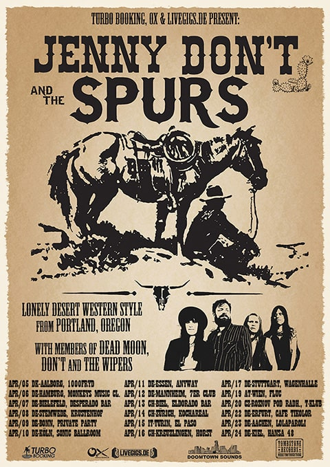 Jenny Don't and the Spurs Europe Tour