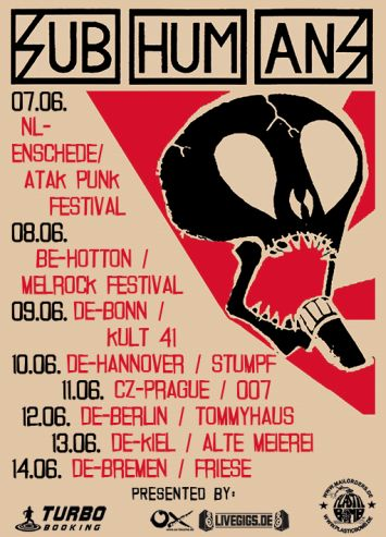 Subhumans Tour 2014