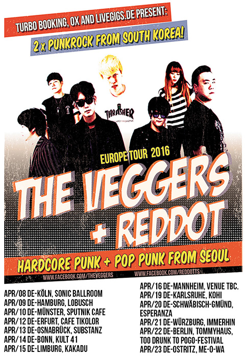 Veggers Reddot Tour flyer